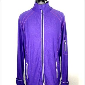 Kirkland Purple Nylon/Spandex Athletic Jacket  1X